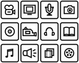 Media - Vector Icons Set poster