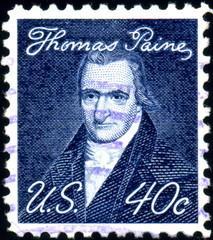 US. Thomas Paine. Timbre postal oblitéré.