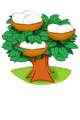 Nest Egg vector cartoon