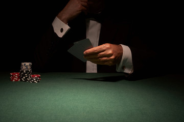 Card player in casino