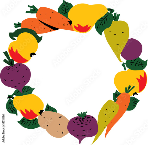 Frame of Fruit and Vegetables