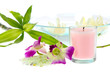 spa theme with pink candle