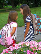 Sisters off to school