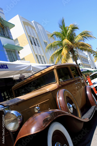 old car in Miami Beach
