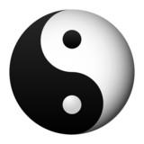 yin and yang, taoist symbol of harmony and balance poster