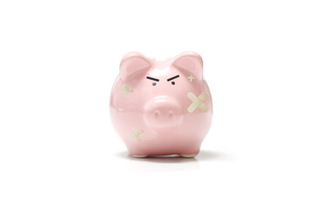 Angry piggy bank