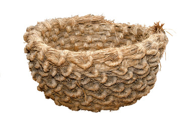 Big hand-made straw basket
