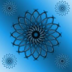 Dark blue spiral