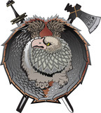 Shield with griffins, (mystical creature) poster