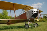 Exhibit of museum of aviation - old biplane.Kiev,Ukraine poster