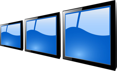 the vector blue tft monitor