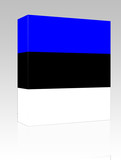Flag of Estonia box package poster