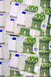 Euro banknotes, a money background