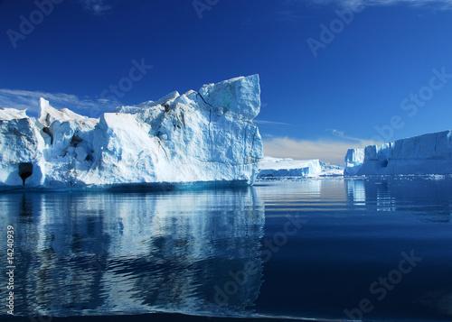 Leinwandbild Motiv Eisberge - Diskobucht - Grönland