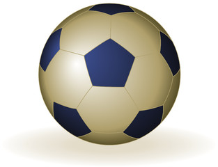 Soccer ball gold and blue
