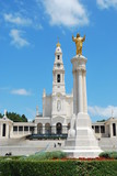 View of the Sanctuary of Fatima, in Portugal poster