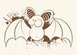 fledermaus vampir vintage cartoon