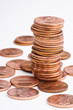 pile of U.S. pennies
