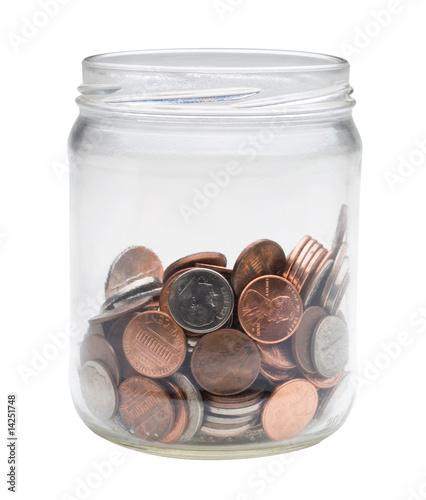 jar of US coins