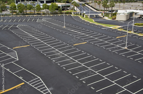 canvas print picture large parking lot
