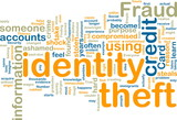 Identity theft wordcloud poster