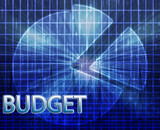 Financial budgeting illustration poster
