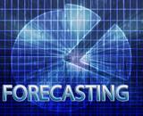 Forecasting budgeting illustration poster