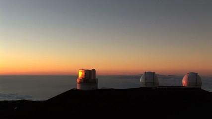 Telescope Observatory at Sunset