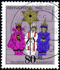 Deutsche Bundespost. Weihnachten 1983. Timbre postal