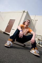 Skateboarder Hanging Out