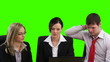 Green Screen footage of Business team in a meeting