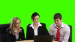 Green Screen footage of Teamwork in Business concept