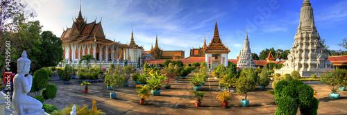 Leinwanddruck Bild Silver Pagoda - Phnom Penh - Cambodia