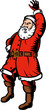 Santa Claus waving at you