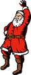 Santa Claus waving at you