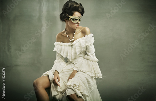 beautiful woman in the mask