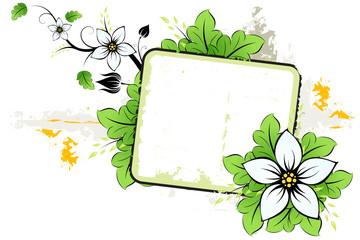 Grunge summer flower