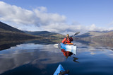 Kayaking on Loch Earn poster