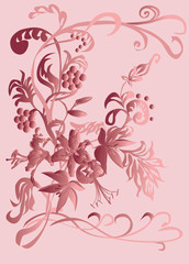 floral background brown color