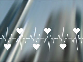 Illustration of cardiogram