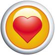 Heart Glossy Vector Icon