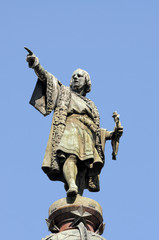 Monument of Christopher Columbus, Barcelona, Spain