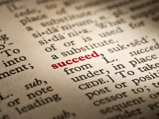 Word definition succeed
