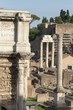 roman forum fragment with columns, Rome, Italy