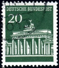 Deutsche Bundespost. Berlin. Reichstag. Timbre postal