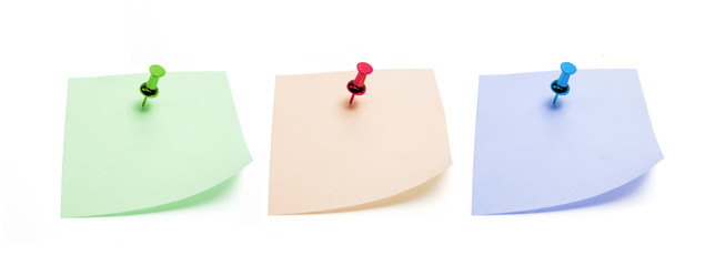 Post It Note Papers with Push Pins
