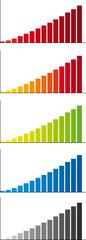 histogrammes de differentes couleurs