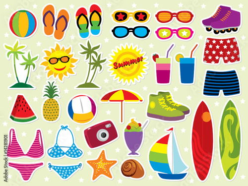 Vector: Summer holidays icon set. Similar images in my portfolio.
