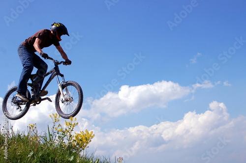 Deurstickers Mountainbike