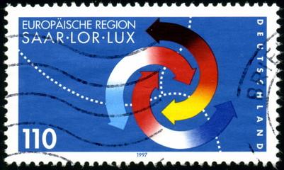 Deutschland. Europäische Region. timbre postal.
